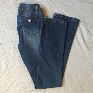 Guess Visha Fit Slim Bootcut Dark Wash Denim Jean
